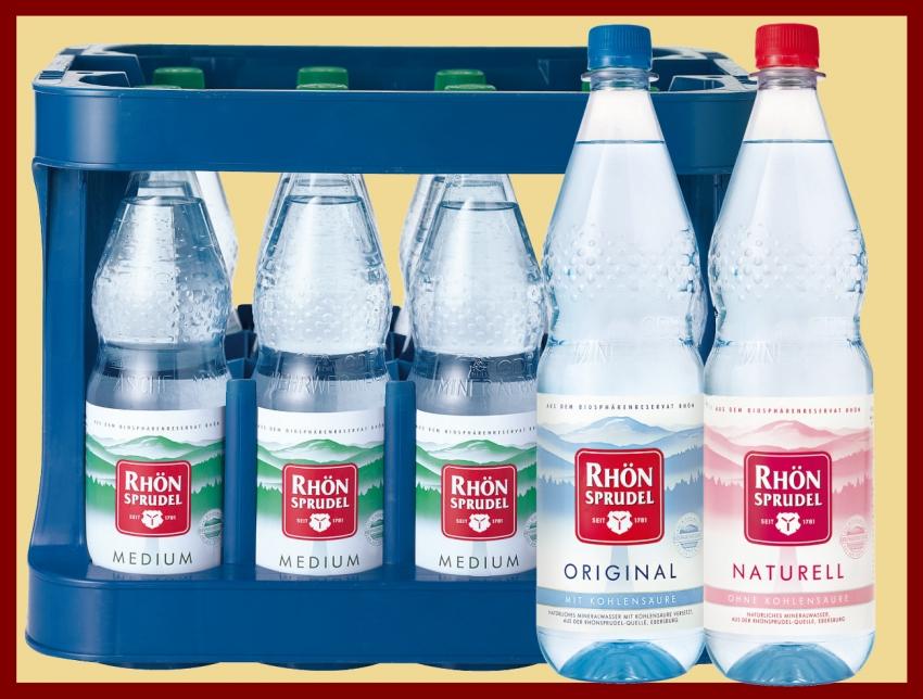 Rhönsprudel Mineralwasser 12x1,0